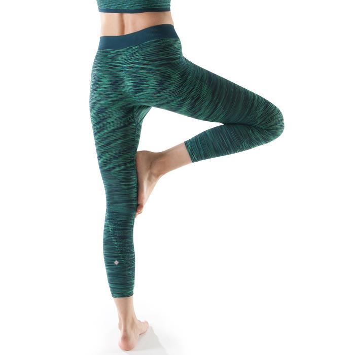 Legging YOGA sans coutures femme 7/8 chiné - 1199174