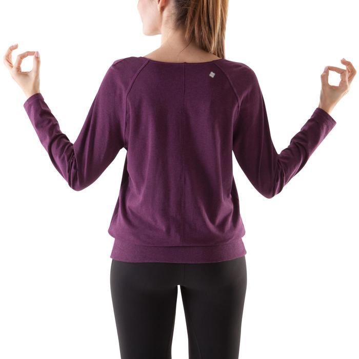 Langarmshirt Yoga Damen bordeauxrot