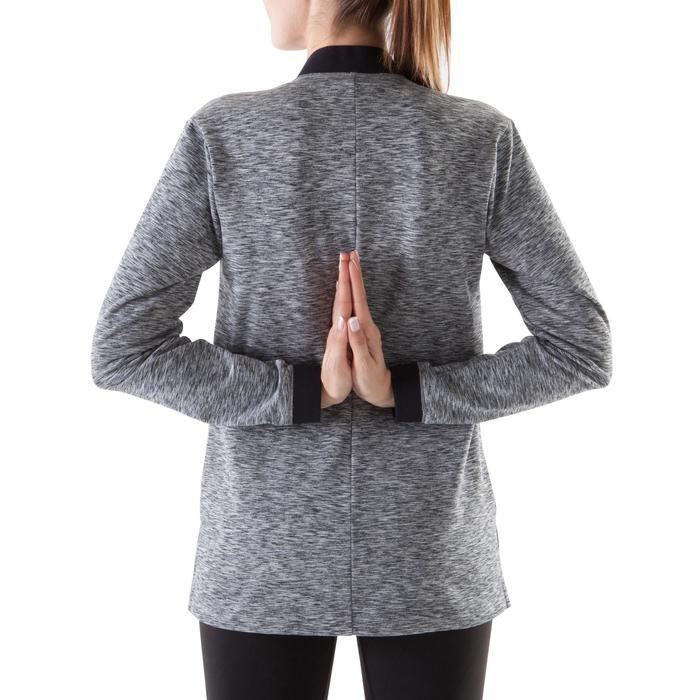 Chaqueta Relajación Yoga Domyos 900 Mujer Negro/Gris
