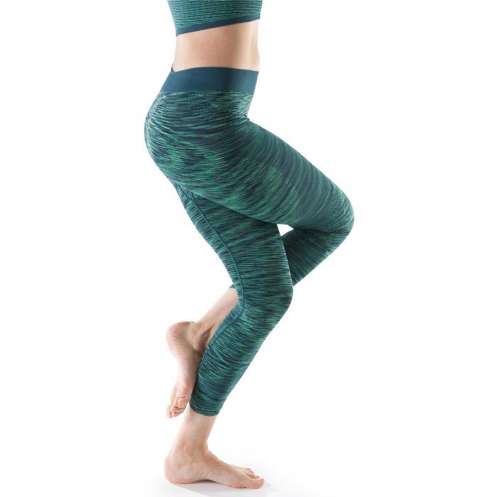 Legging YOGA sans coutures femme 7/8 chiné - 1199237