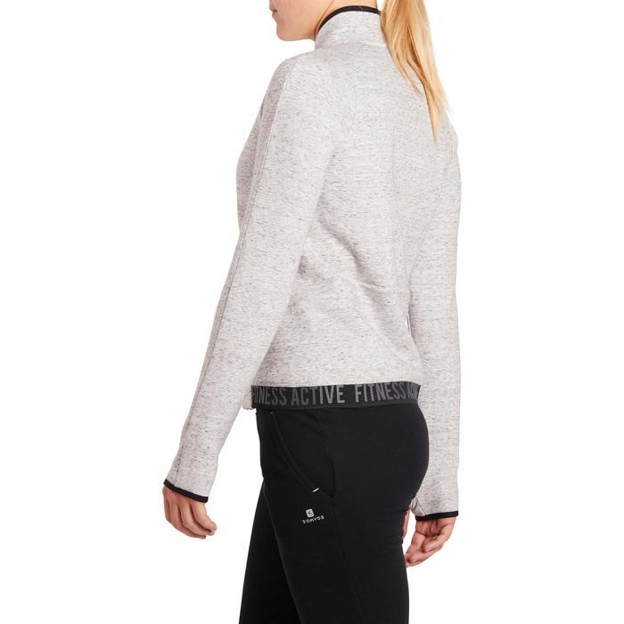 Veste 900 Gym & Pilates femme sans capuche gris effet neps - 1199238