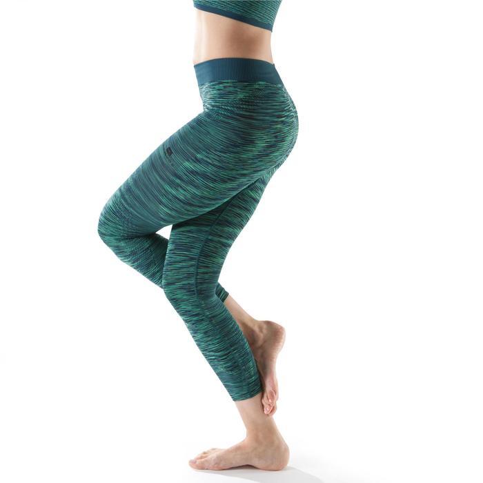 Legging YOGA sans coutures femme 7/8 chiné - 1199239