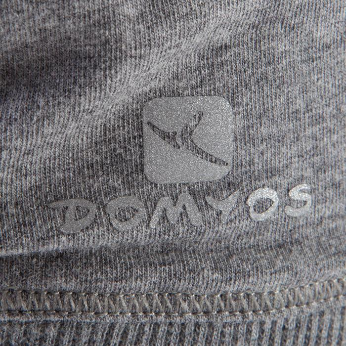 T shirt manches longues yoga doux femme gris chine
