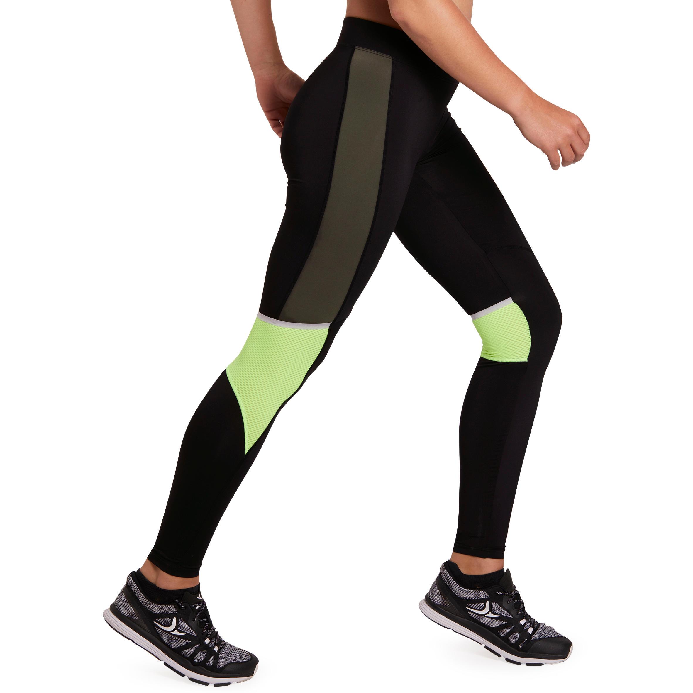 Women's fitness cardio energy extreme printed leggings -khaki black