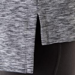 Chaqueta YOGA+ mujer negro / gris jaspeado
