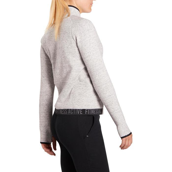 Veste 900 Gym & Pilates femme sans capuche gris effet neps - 1199343