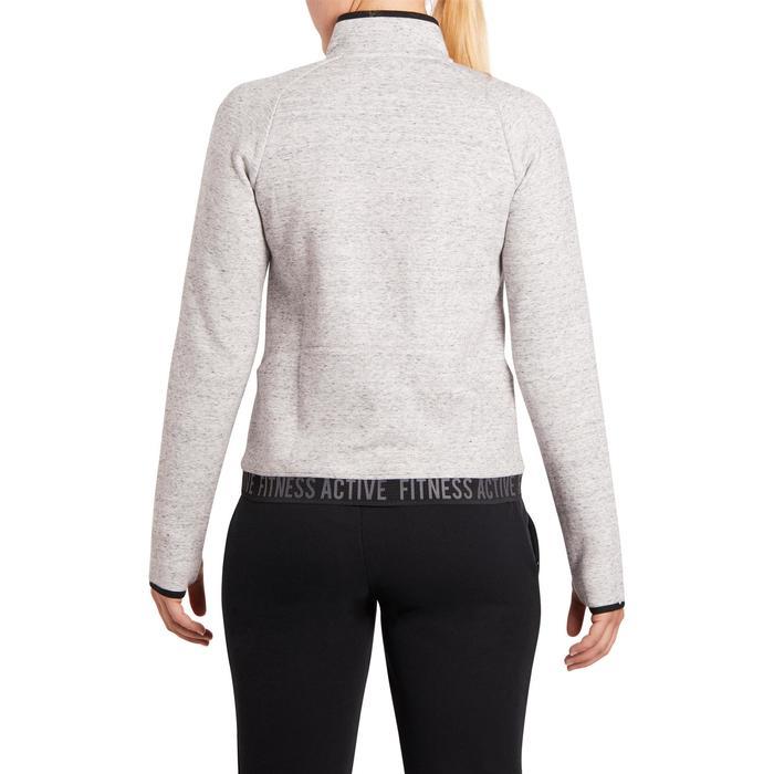 Veste 900 Gym & Pilates femme sans capuche gris effet neps - 1199350