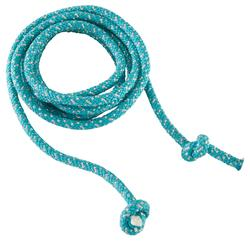 Touw voor ritmische gymnastiek (RG) 165 g turquoise met glitters
