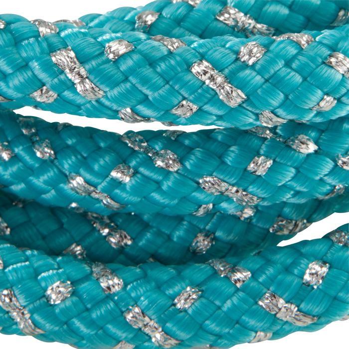 Corde de Gymnastique Rythmique (GR) de 165 gr Turquoise pailletté