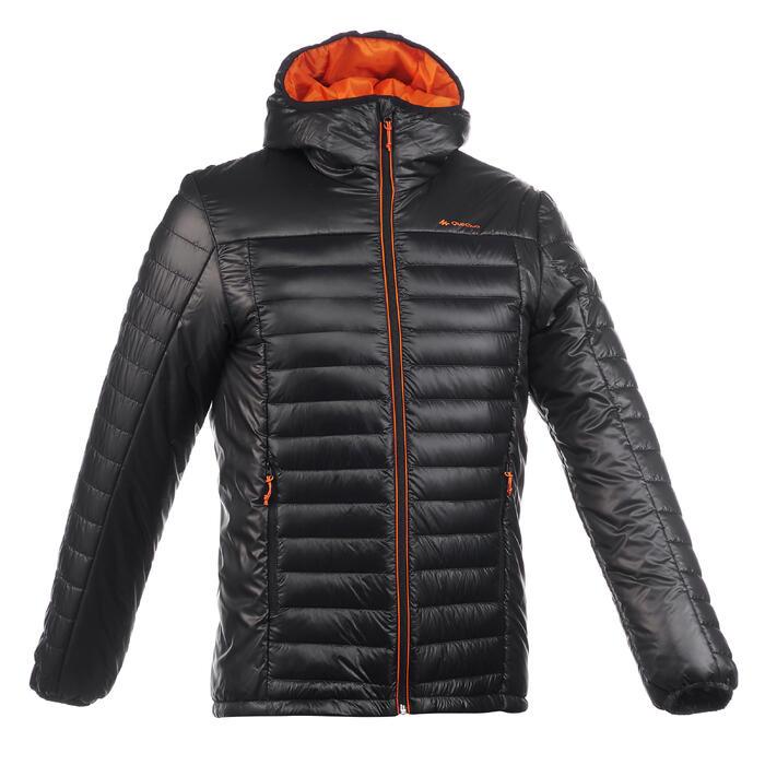 Abrigo Chaqueta Plumón Montaña y Trekking Forclaz XLight Acolchada Hombre Negro