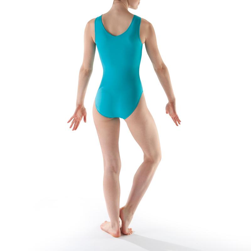 ... Justaucorps sans manches Gymnastique Féminine turquoise Sequins ... 8d4be42014b