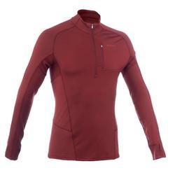 Camiseta manga larga trekking en montaña TREK 900 lana merina hombre marrón