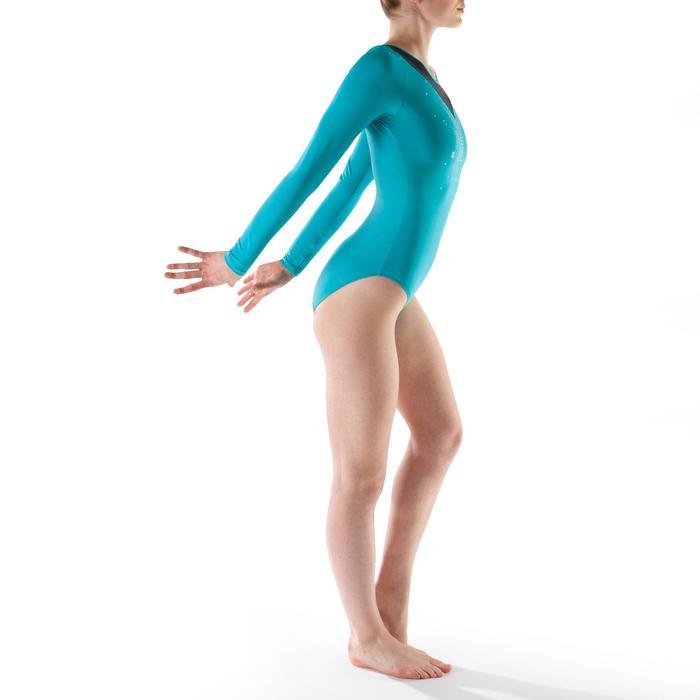 Justaucorps manches longues gym (GAF et GR) Sequins - 1199478