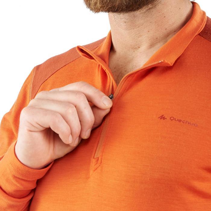 T- Shirt manches longues TREKKING montagne TECHWOOL 190 zip homme - 1199524