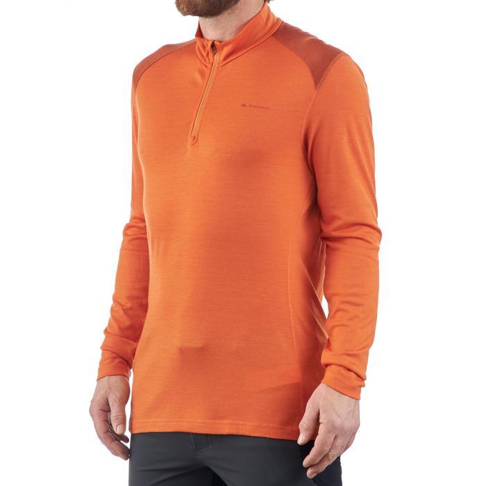 T- Shirt manches longues TREKKING montagne TECHWOOL 190 zip homme - 1199557