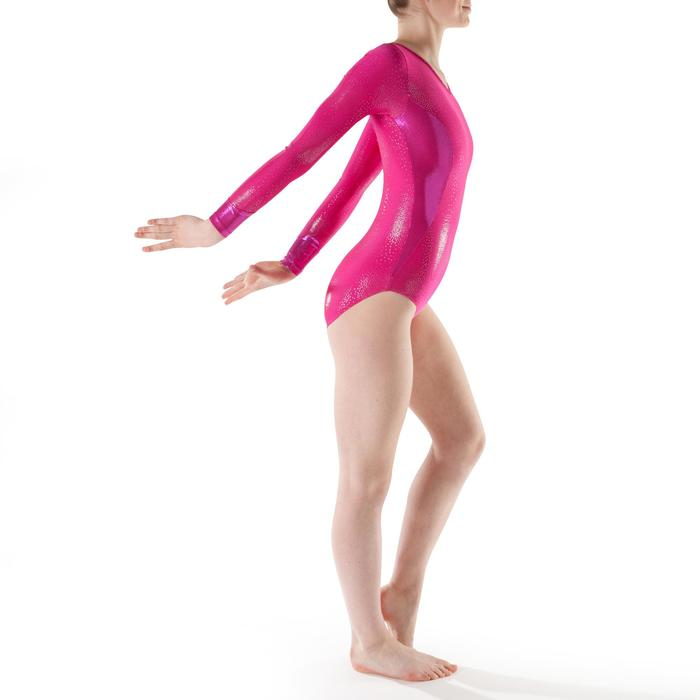 Turnpakje met lange mouwen (toestelturnen) voor dames roze 520
