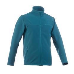Heren softshell jas voor trekking Windwarm 100