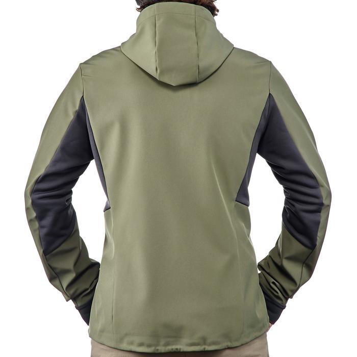 Softshell chaude coupe vent de trek montagne - TREK 500 WINDWARM kaki - homme