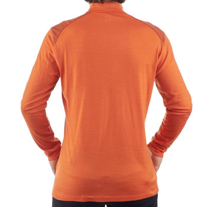 T- Shirt manches longues TREKKING montagne TECHWOOL 190 zip homme - 1199615
