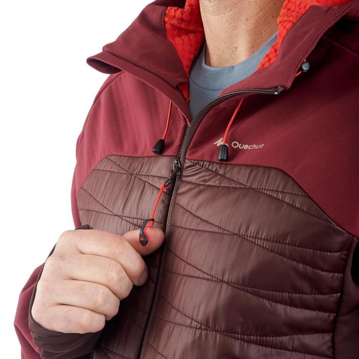 Chaqueta softshell trekking montaña TREK 900 HYBRID hombre marrón