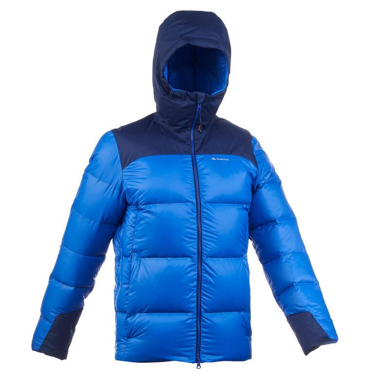 Doudoune en duvet de trek montagne - TREK 900 -18°C bleu - homme