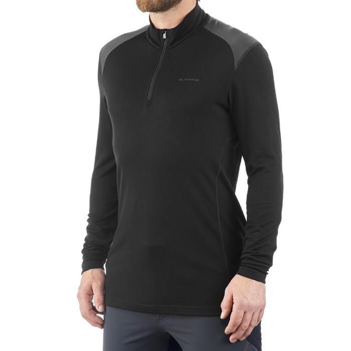 T- Shirt manches longues TREKKING montagne TECHWOOL 190 zip homme - 1199659
