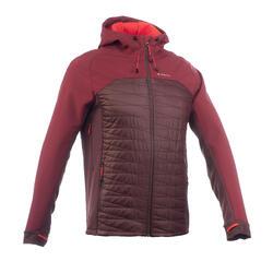 Heren softshell jas voor bergtrekking Trek 900 hybrid bruin