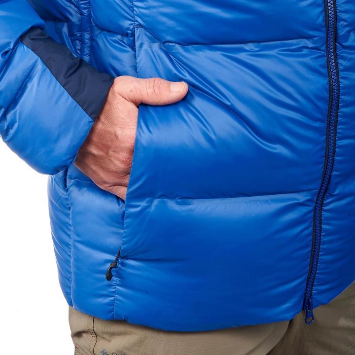 Chaqueta de Plumas Acolchada de Montaña y Trekking Top-warm Hombre Azul