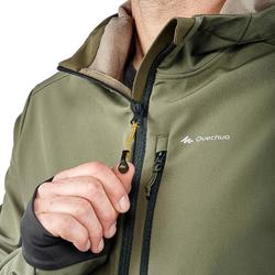 Softshell jas voor bergtrekking Trek 900 WindWarm heren kaki