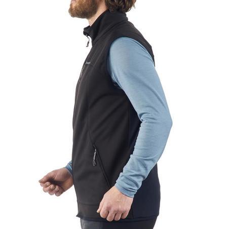 Gilet coupe vent de trek montagne - TREK 100 WIND noir homme