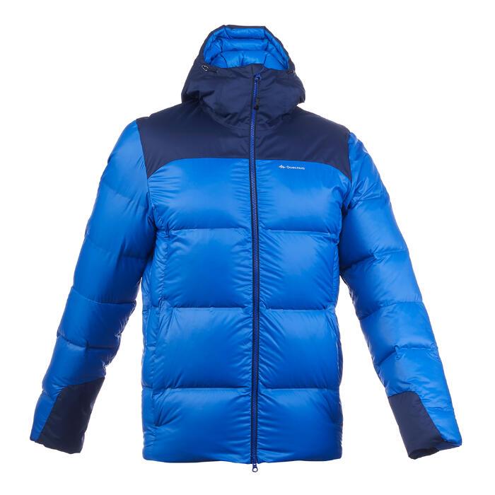 Doudoune de trek montagne - TREK 900 DUVET bleu homme