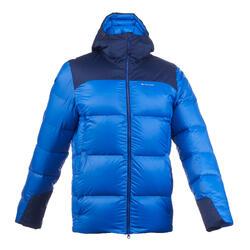 男款登山健行羽絨外套TREK 900-藍色