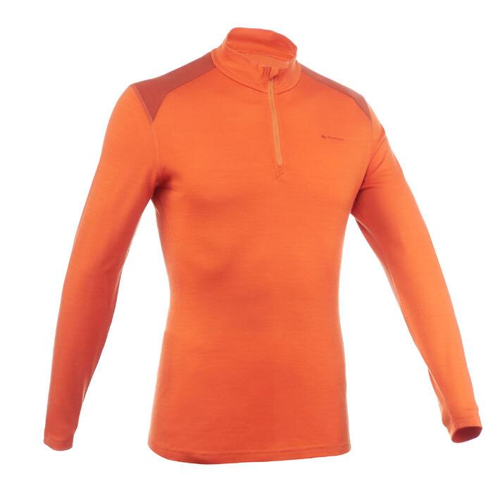 T- Shirt manches longues TREKKING montagne TECHWOOL 190 zip homme - 1199771