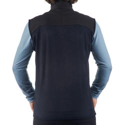 Men's black mountain trekking vest TREK500 WIND