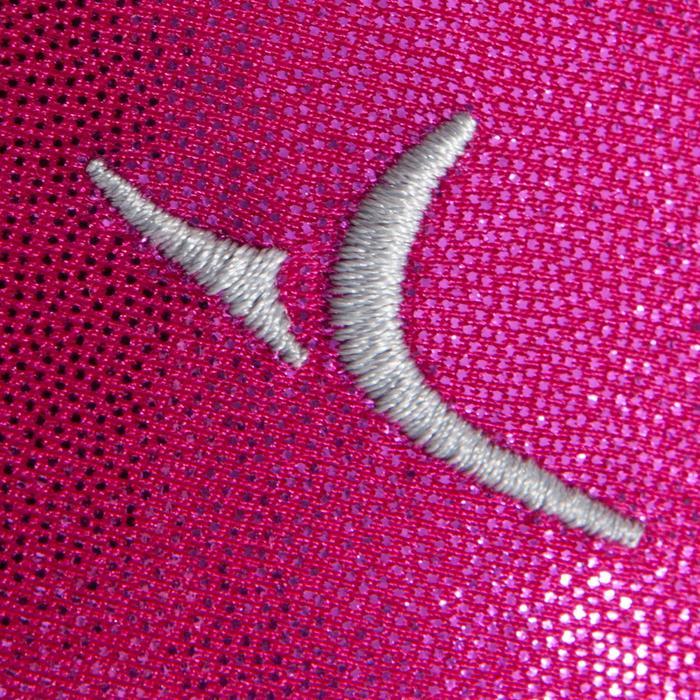 Turnpakje met lange mouwen (toestelturnen) dames lovertjes/strass/voile roze
