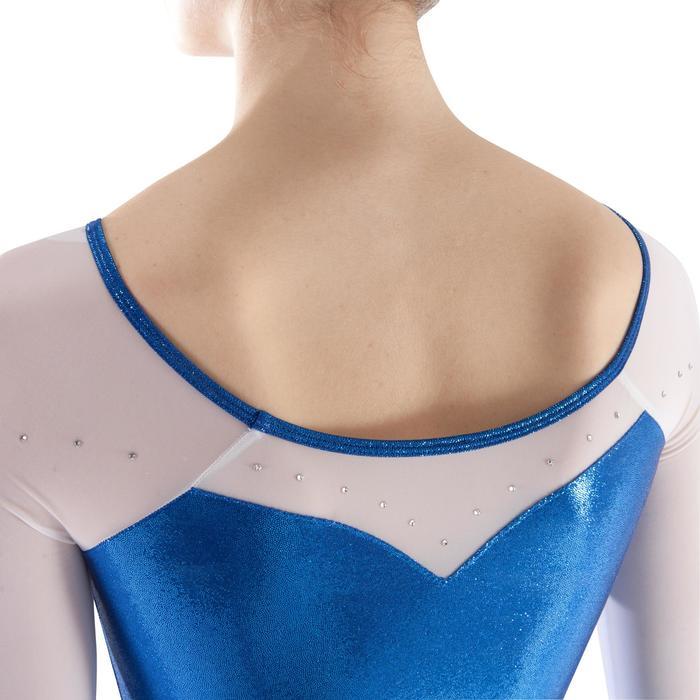Justaucorps manches longues Gym Féminine (GAF) paillette/strass/voile - 1199779