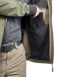 Casaco softshell quente corta-vento Trekking montanha TREK500 WINDWARM Homem