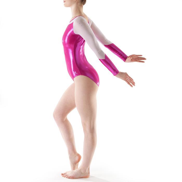 Justaucorps manches longues Gym Féminine (GAF) paillette/strass/voile - 1199800