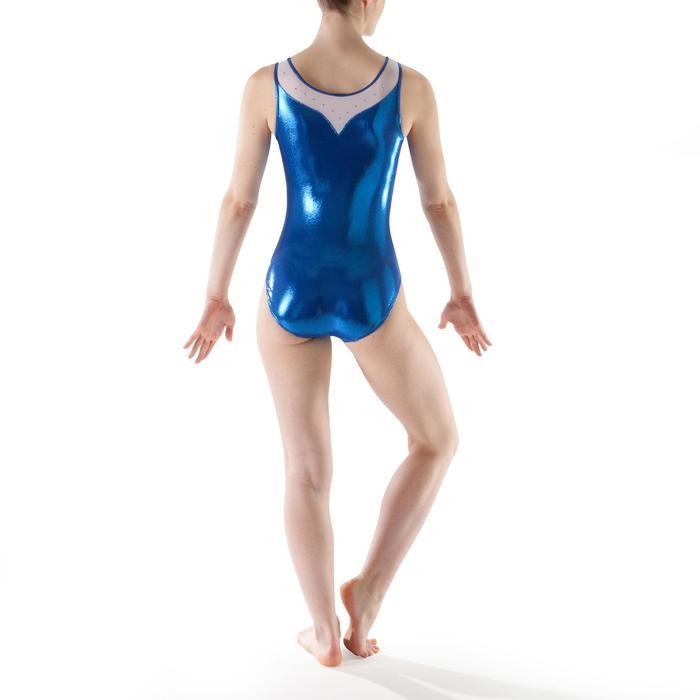 Justaucorps sans manches Gym Féminine (GAF) paillette/strass/voile - 1199806