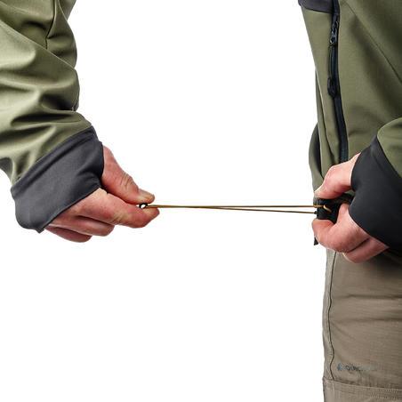 Куртка TREK 500 WINDWARM чоловіча для гірського трекінгу, з софтшелу - Хакі