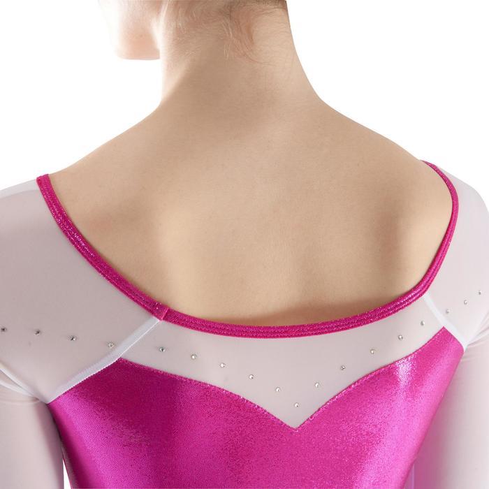 Justaucorps manches longues Gym Féminine (GAF) paillette/strass/voile - 1199827