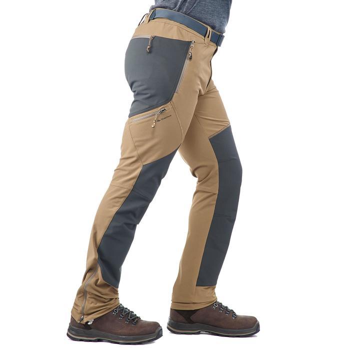 Pantalon trekking montagne TREK 900 homme marron