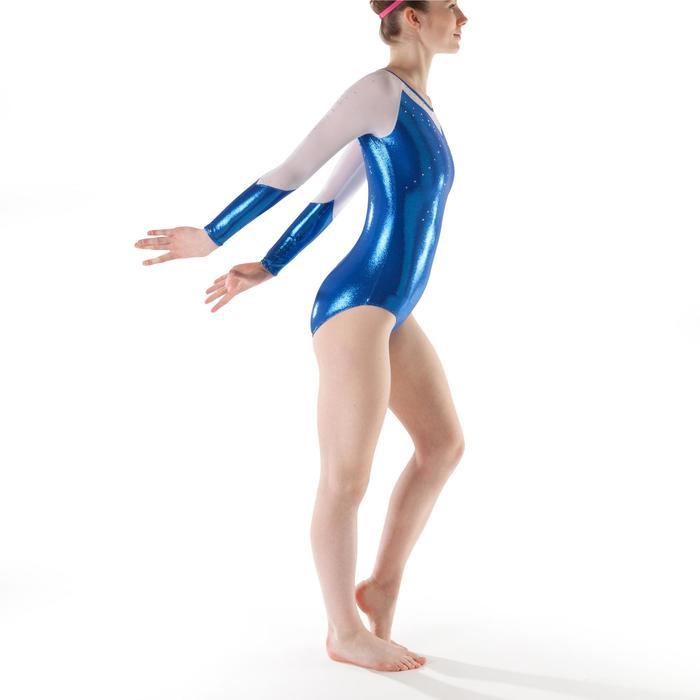 Justaucorps manches longues Gym Féminine (GAF) paillette/strass/voile - 1199856