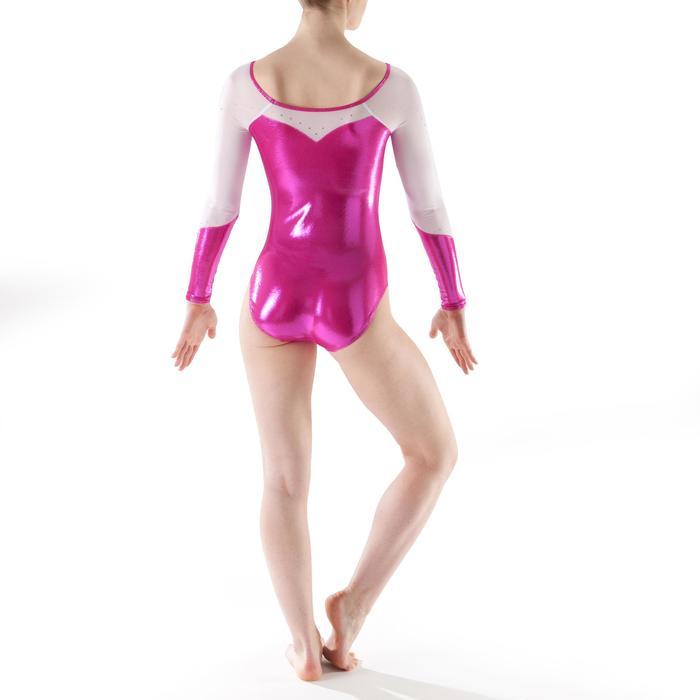 Justaucorps manches longues Gym Féminine (GAF) paillette/strass/voile - 1199882