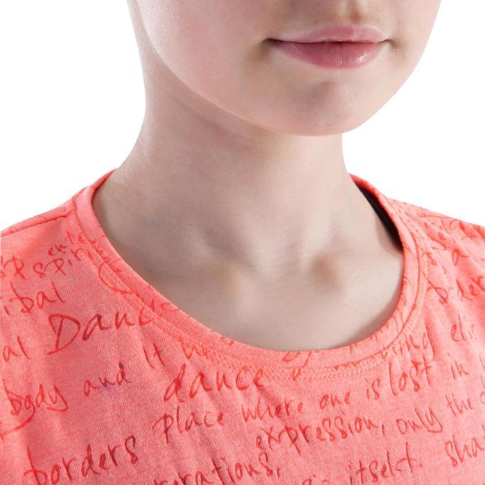 T shirt ouverture côté orange fille - 1199946