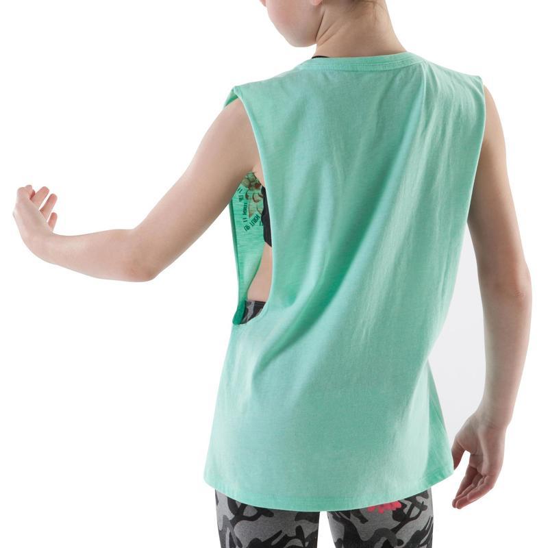 Dívčí taneční tričko bez rukávů černé  1b48225f16