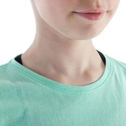 Camiseta Sin Mangas Danza Moderna Domyos Niña Verde Menta Abertura Lateral