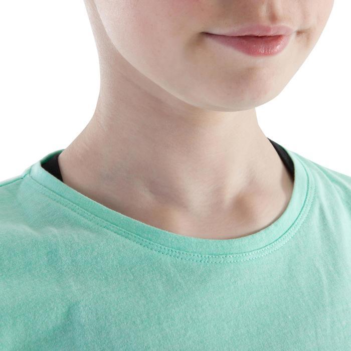 T shirt ouverture côté orange fille - 1199958