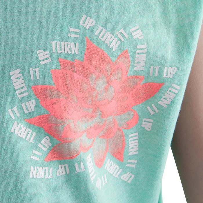 Camiseta con abertura lateral verde menta niña