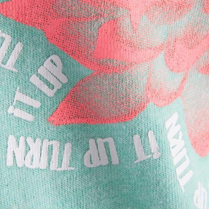 T shirt ouverture côté orange fille - 1199964